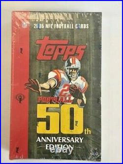 (1) 2005 Topps Football 50th Anniversary HOBBY Sealed Box RARE Aaron Rodgers RC