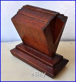 1930s Vintage Art Deco Wooden Cigarette Dispenser Tobacciana Antique Box Rare