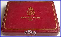 1937 Royal Mint 4 Coin Gold Proof Sovereign Set Original Leatherette Box Rare