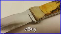 1940-52 Ka Bar, Rare Left Handed Stag Axe/knife With Sheath, No Box #cg163