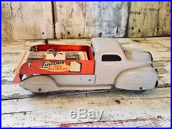 1940s Very Rare Lincoln Ice Delivery Truck Pressed Steel With Original Box