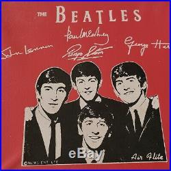 1964 Beatles Lunch Box VINYL NEMS AIR FLITE Rare Red CASE Very Scarce MINT