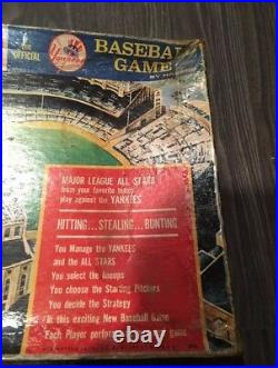 1964 Hasbro Challenge The Yankees Baseball Board Game Rare All 50 Cards Included