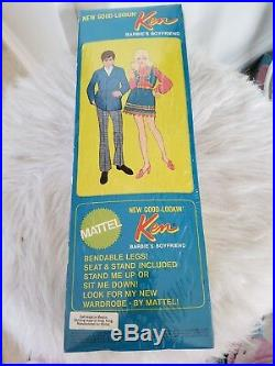 1969 GOOD LOOKIN' KEN DOLL Barbie Doll Mint in Box #1124 Vintage 1960's rare new