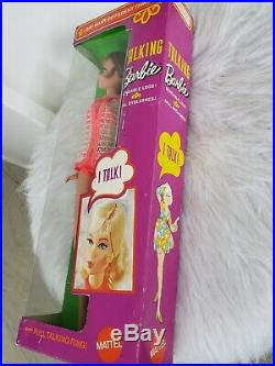 1969 TALKING BARBIE Doll TITIAN Real lashes New in Box #1115 Vintage 1960's Rare