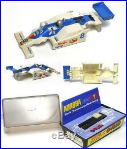 1980 V. RARE Aurora Bata Din Williams Slot Car BODY+ Box 1836 MOST Stickers CLEAN