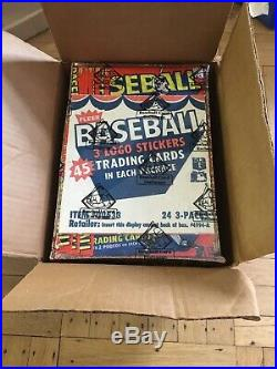 1983 Fleer Baseball Wax Rack Pack Case with 3 Sealed Boxes RARE