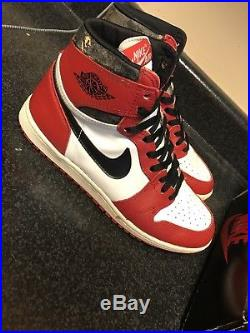 1984 1985 Air Jordan 1 Original Size 10 With OG Box Chicago Banned Royal Rare