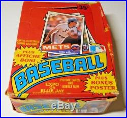1985 O PEE CHEE by TOPPS BASEBALL WAX BOX 36 PACKS KIRBY PUCKETT RC PSA RARE
