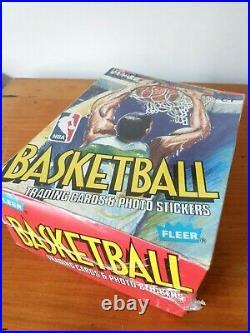 1989 FLEER BASKETBALL CARDS SEALED BOX 36 Packs NEW. NBA Jordan 4th Year RARE