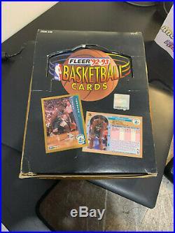 1992-93 Fleer Basketball Rack Pack Box MICHAEL JORDAN TEAM LEADERS RARE