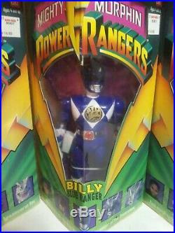1993 Mighty Morphin Power Rangers Bandai 8 Toy Figure Set Original Box Rare