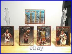 1996-97 Topps Finest Basketball Series 1 SET KOBE, JORDAN, PIPPEN, RODMAN RARE