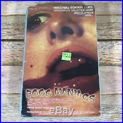 2000 Maniacs Rare & OOP Horror Movie Original Comet Home Video Big Box VHS NEW