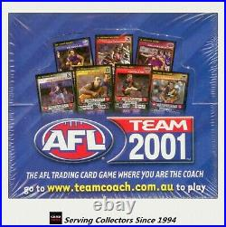2001 Afl Teamcoach Trading Card Factory Box (36)-rare, First Teamcoach Series