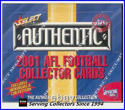 2001 Select AFL Authentic Trading Card Factory Box (36 Packs)-Rare