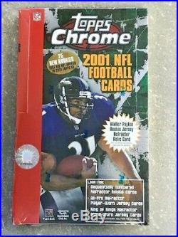 2001 Topps Chrome Football Hobby Sealed Box RARE Brees Vick Tomlinson Refractor