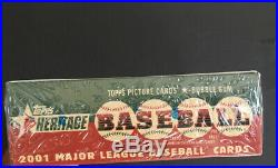 2001 Topps Heritage baseball factory sealed Hobby Box 24 Packs Rare Auto Cards