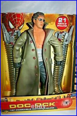 2004 Spider-man 2 Doc Ock 12 Posable Action Figure Toy Biz Rare Mib Moc