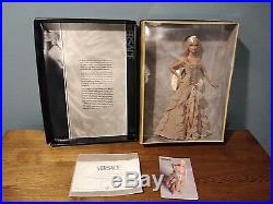 2004 Versace Barbie GOLD LABEL Taupe Dress Rare Collectors Item NEW in box
