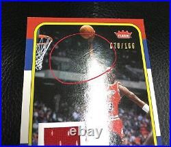 2007 Fleer Michael Jordan Career Box RC Design Game Use Jersey /100 Extreme RARE
