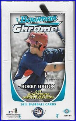 2011 Bowman Chrome Baseball Hobby Box MINT Mike Trout RC Super rare find