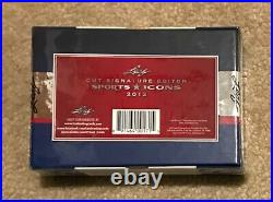 2012 Leaf Cut Signature Edition Sports Icons Hobby Box with Josh Gibson Card RARE