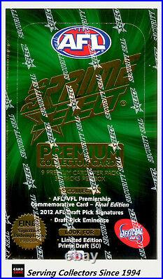 2013 Select AFL Prime Trading Cards Factory Sealed Box (36 packs)-Rare