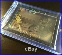 2013 UD Exquisite Collection Michael Jordan Shadow Box Auto On-Card MJ RARE SP