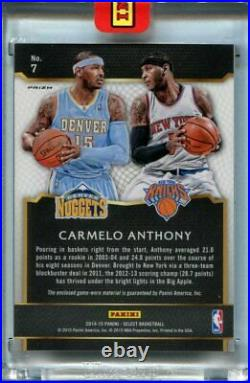 2014-15 Select Carmelo Anthony City to City 1 of 1 1/1 Black Box Dual Patch RARE