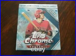 2018 Topps Chrome Baseball Mega Box Factory Sealed X-Fractor Acuna Ohtani Rare