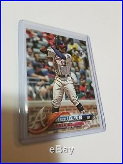 2018 Topps Update Ronald Acuna Jr PHOTO VARIATION SSP BRAVES RARE RC #250