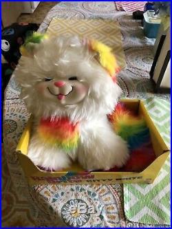 #2411 RARE Original Box Vintage 1983 Mattel Rainbow Brite Kitty Brite Plush Cat