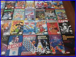 50 Super Mint COMPLETE IN BOX original nintendo nes games, rare collector's lot
