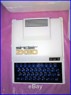 9 DAY SALE Sinclair ZX80 boxed, Original rare white PSU, close to NEW