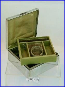 A Very Rare Liberty & Co Tudric Pewter Enameled Jewelry Box by Archibald Knox