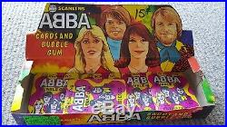 ABBA SUPER RARE ORIGINAL bubble gum PROMO box