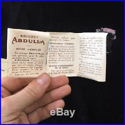 ANTIQUE VINTAGE QUERCIA ABDULLA PETROL LIGHTER With ORIGINAL BOX & PAPERS RARE