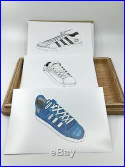 Adidas VERY RARE ART AD CELEBRATE ORIGINALITY WOOD BOX POSTERS 2006 Sneaker