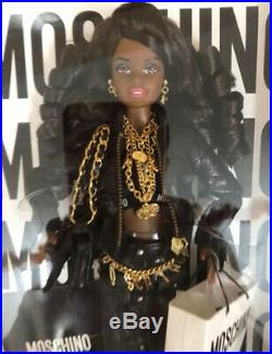 African American Moschino Barbie Only 700 made worldwide NRFB MINT BOX RARE