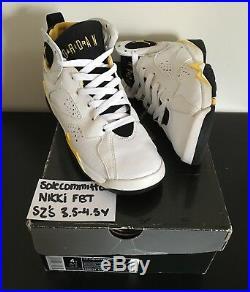 Air Jordan 7 Maize Gs Size4 4Y Rare Original Box