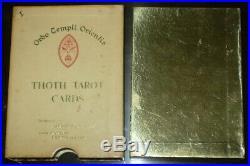 Aleister Crowley, Thoth Tarot Cards, Hong Kong, White Box A, Rare First Printing