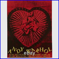 Andy Warhol Rare Vintage 1983 Original Candy Box Heart Poster