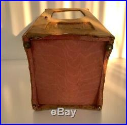 Antique 1800s French Sedan Chair Display Cabinet Doll Box RARE