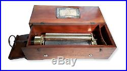 Antique Early & Rare Lecoultre & Brechet Key Wind Music Box C. 1848 (Watch Video)