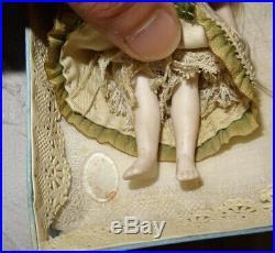 Antique Rare Mignonnette All Bisque Gaultier (4,72 Inches) In The Box Original