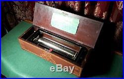 Antique Rare & Unusual Victorian Music Box Beautiful Case! C. 1899 (Watch Video)