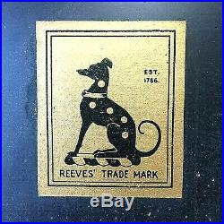 Antique Reeves Box Artist Paint Watercolor No. 62 Set Metal 27 Pans Old RARE