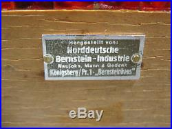 Art Deco Konigsberg Bernsteinhaus Natural Baltic Egg Yolk Amber Box Ultra Rare