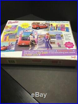 Barbie At The Car Wash Playset 2001 Rare Complete New In Box